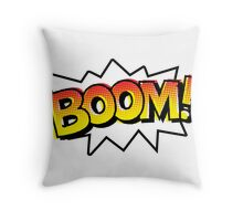 BOOM! Comic Onomatopoeia Throw Pillow