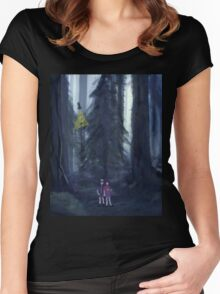The Forest of Gravity Falls Women's Fitted Scoop T-Shirt