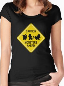 Monsters Ahead Women's Fitted Scoop T-Shirt