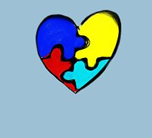 Autism Awareness Heart Unisex T-Shirt