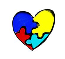 Autism Awareness Heart Photographic Print