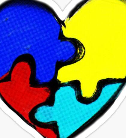 Autism Awareness Heart Sticker