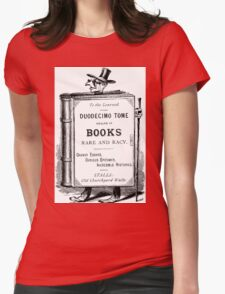 Duddecimo Tome Books Womens Fitted T-Shirt