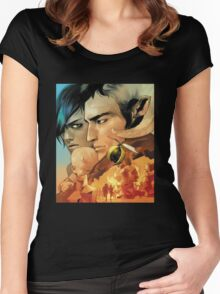 Saga By Image Comics Women's Fitted Scoop T-Shirt