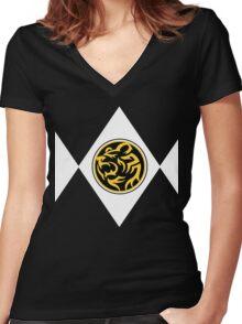 Bear Ranger (Black) Women's Fitted V-Neck T-Shirt