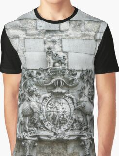 Royal Coat of Arms on the Tower of London Entrance Graphic T-Shirt