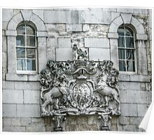 Royal Coat of Arms on the Tower of London Entrance Poster
