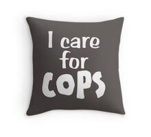 I Care For Cops - Police Officers Throw Pillow