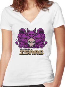 Monsters (Purple) Women's Fitted V-Neck T-Shirt