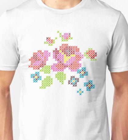 Cross Stitch Spring Unisex T-Shirt