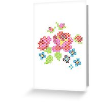 Cross Stitch Spring Greeting Card