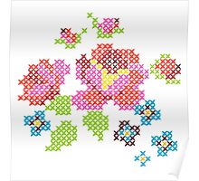 Cross Stitch Spring Poster