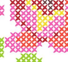 Cross Stitch Spring Sticker
