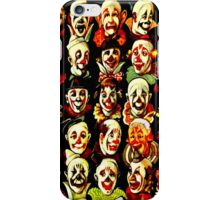 ''CLOWNS CONFERENCE'' Vintage Circus Poster Print iPhone Case/Skin