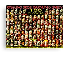 ''CLOWNS CONFERENCE'' Vintage Circus Poster Print Canvas Print