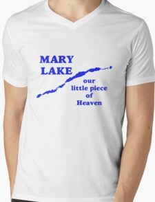 Mary Lake Our Little Piece of Heaven Mens V-Neck T-Shirt