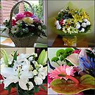 Birthday Bouquet Collage by Kathryn Jones