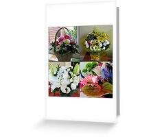 Birthday Bouquet Collage Greeting Card