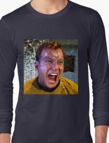 Captain Kirk Polyart Long Sleeve T-Shirt