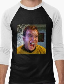 Captain Kirk Polyart Men's Baseball ¾ T-Shirt