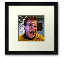 Captain Kirk Polyart Framed Print