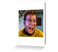 Captain Kirk Polyart Greeting Card