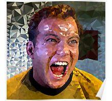 Captain Kirk Polyart Poster