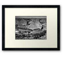 Water in Canyon De Chelly ~ Black & White Framed Print