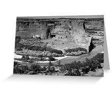 Water in Canyon De Chelly ~ Black & White Greeting Card