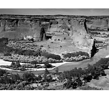 Water in Canyon De Chelly ~ Black & White Photographic Print