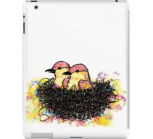Two chicks in a nest iPad Case/Skin