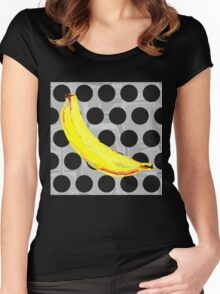 Banana Polka Dot by American Jank Brand Women's Fitted Scoop T-Shirt
