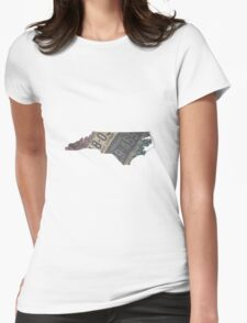 Vintage North Carolina License Plates Womens Fitted T-Shirt