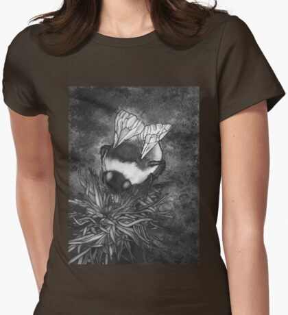 Bumble Bee On Flower Womens Fitted T-Shirt