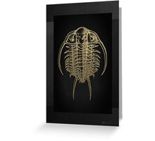 Fossil Record - Golden Trilobite on Black #2 Greeting Card