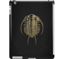 Fossil Record - Golden Trilobite on Black #2 iPad Case/Skin