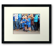 Caught Sight of Their Team Framed Print