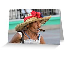 Cuban Lady Greeting Card