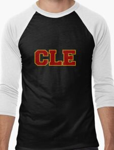 CLE Clevland New Basketball Men's Baseball ¾ T-Shirt