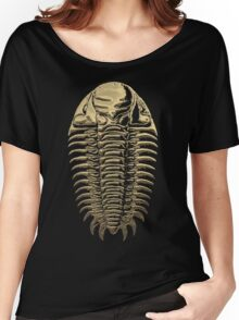 Fossil Record - Golden Trilobite on Black #3 Women's Relaxed Fit T-Shirt