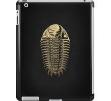 Fossil Record - Golden Trilobite on Black #3 iPad Case/Skin