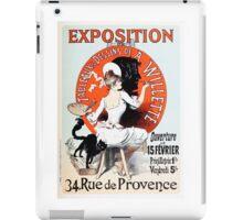 Vintage Jules Cheret 1896  Exposition de A Willette iPad Case/Skin