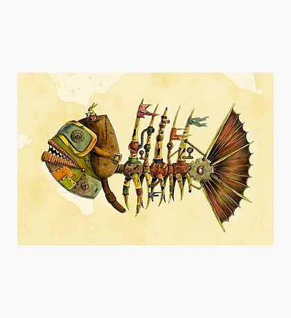 Steampunk Fish 2.0 Photographic Print