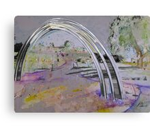 Arch and Impression of a Landscape  Canvas Print