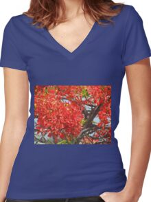 Just Another Tree Women's Fitted V-Neck T-Shirt