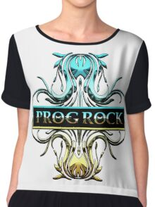 PROG ROCK - white background Chiffon Top