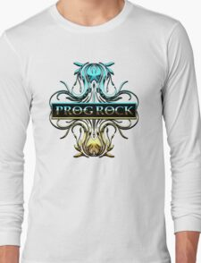 PROG ROCK - white background Long Sleeve T-Shirt