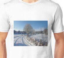 Snowy walk Unisex T-Shirt