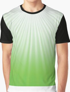 green rays background Graphic T-Shirt