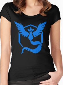 Pokemon - Pokemon GO Team Mystic Logo (Blue) Women's Fitted Scoop T-Shirt